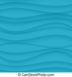 Blue seamless Wavy background texture. - Vector Blue...
