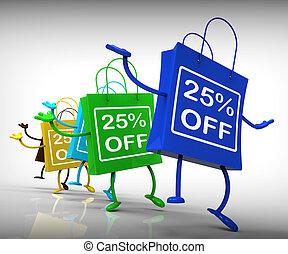 Twenty-five Percent Off Bags Show 25 Discounts
