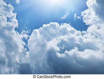 Blue skylight. Composition of nature.