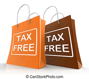 Tax Free Bag Represents Duty Exempt Discounts - Tax Free...