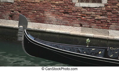 Moving gondola in Venice