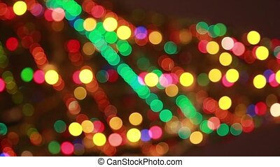 Blured christmas tree with colourful lights