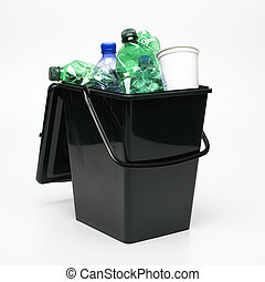 Ricycling bin - Recycling bin isolated on a white background
