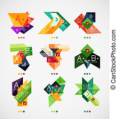 Vector option banners collection. Can be used as infographic...