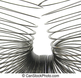 Closeup view of a spiral