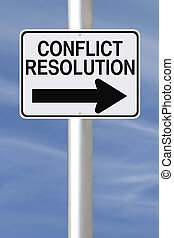 Conflict Resolution - A modified one way street sign...