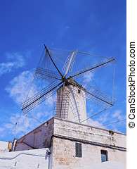Windmill in Ciutadella on Minorca - Moli des Comte - Old...