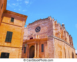 Cathedral in Ciutadella on Minorca
