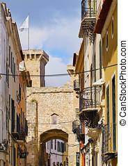 Sant Roc Gate in Mahon on Minorca - Pont de Sant Roc in Mao...