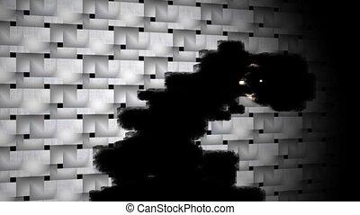 black particles