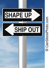 Shape Up or Ship Out - Conceptual one way street signs...