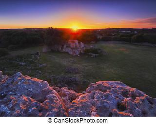View of Talati de Dalt on Minorca - Sunset over Talati de...