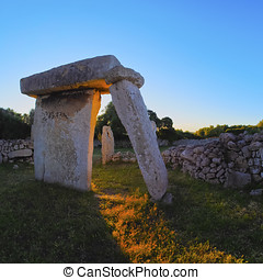 Talati de Dalt on Minorca - Talati de Dalt - T-shaped stone...