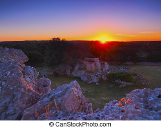 View of Talati de Dalt on Minorca - Sunset over Talati de...