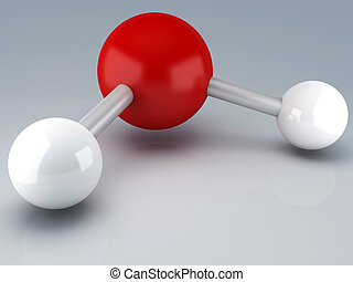 H20 Molecule 3d - H2O Molecules for Health Science 3d...
