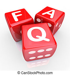 FAQ Frequently Asked Questions 3 Red Dice