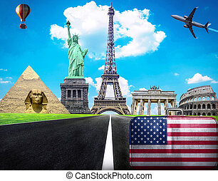 Travel the world conceptual image - Visit United States of...