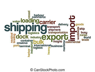 Shipping word cloud