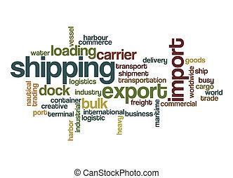 Shipping word cloud