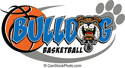 bulldog basketball mascot design