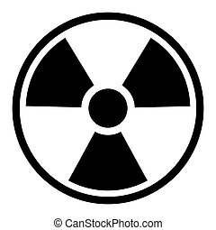 radiación, símbolo, /, señal