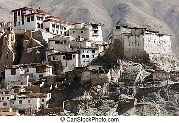 Lamayuru gompa - buddhist monastery in Indus valley - Ladakh...