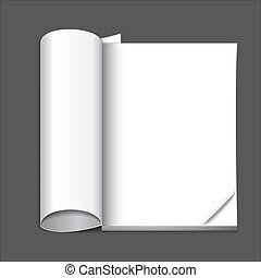blank magazine page, ready for your design