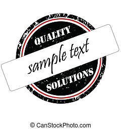 Quality solutions stamp - Vector grunge stamp quality...