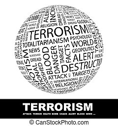 TERRORISM Word cloud concept illustration Wordcloud collage...