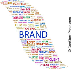 BRAND. Word cloud concept illustration. Wordcloud collage.
