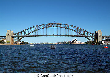 Australia, Sydney - Australia, Harbour Bridge and Opera in...
