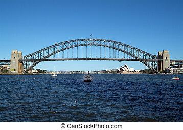 Australia, Sydney - Australia, Harbour Bridge and Opera in...