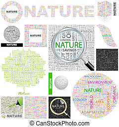 Nature. Concept illustration. - Nature. Word cloud...