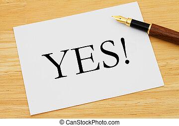 Saying yes!
