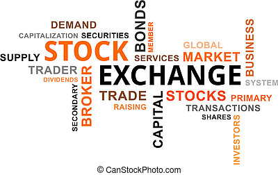 word cloud - stock exchange - A word cloud of stock exchange...