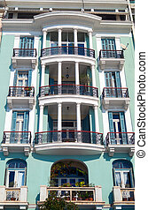 Historic building located at Thessaloniki city in Greece.  Area of Aristotle  square.