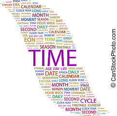 TIME Word cloud concept illustration Wordcloud collage