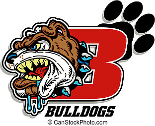 bulldog mascot design