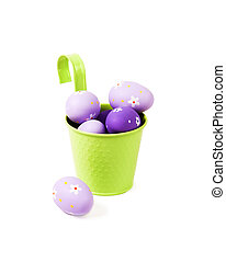 Easter background with egg decorations.