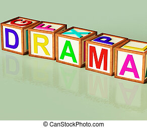 Drama Blocks Show Roleplay Theatre Or Production - Drama...