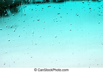Aqua Raindrop Background