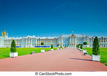 famous Catherine Palace in St Petersburg
