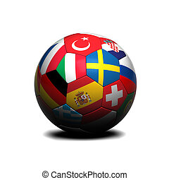 European soccer ball - Soccer ball with european flags on it...