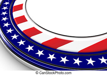USA button - US elections button with white space for custom...