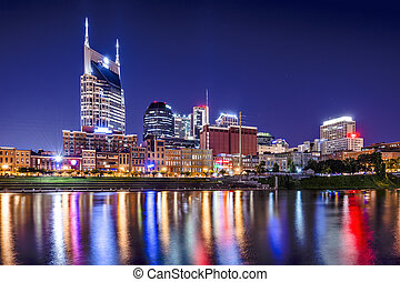 Nashville Tennessee - Nashville, Tennessee, USA downtown...
