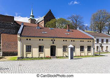 Akershus Fortress garrison commandant - Akershus slott on a...