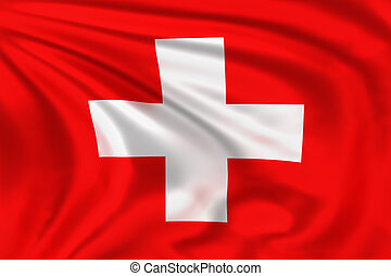 Switzerland flag - High quality illustration of the flag of...