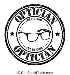 Optician stamp - Optician grunge rubber stamp on white,...