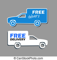 Free delivery - Icon free delivery, vector