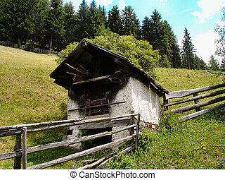An old oven in South Tyrol
